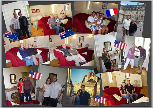 My home in Dijon guests in 2013