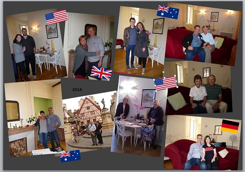 My home in Dijon guests in 2014