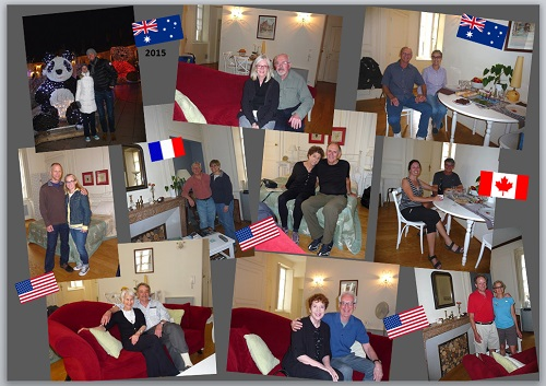 My home in Dijon guests in 2015