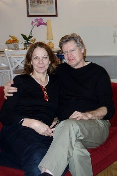 Peg and Eric Jager at My home in Dijon