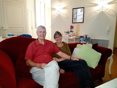Mike and Julie Kessler (My Home in Dijon, October 2018)